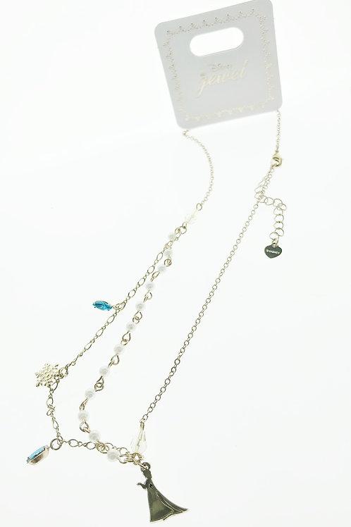 Necklace Series - Frozen Elsa Long Necklace - Slight Defect**