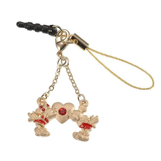 DUST PLUG -  Mickey & Minnie Love Red Stone dust plug