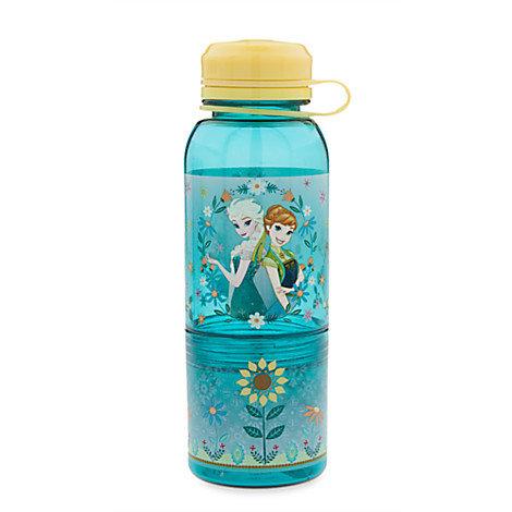 Snack Bottle Water Bottle  - Frozen : Elsa & Anna