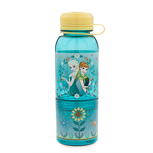 Snack Bottle Water Bottle  - Frozen : Elsa & Anna