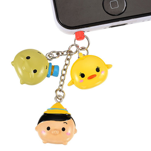 DUST PLUG - Pinocchio, Jiminy Cricket & Cleo Tsum Tsum Candy Dust Plug
