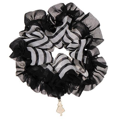 Scrunchie Hair Decoration : Alice in wonderland Alice Black Strip Hair Scrunchie