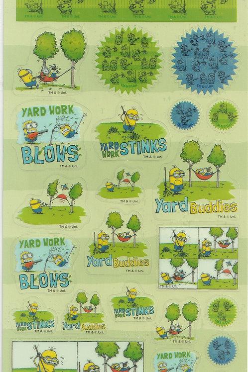 Long Pack Sticker Collection - Minions Garden Clear sticker 2