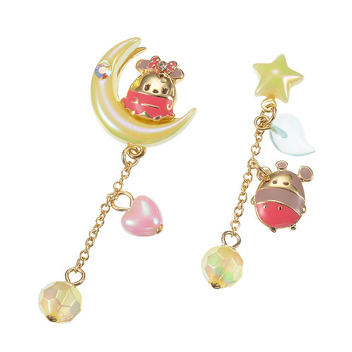 Earring Collection : Disney Ufufy series -  Mickey & Minnie Moonlight earring