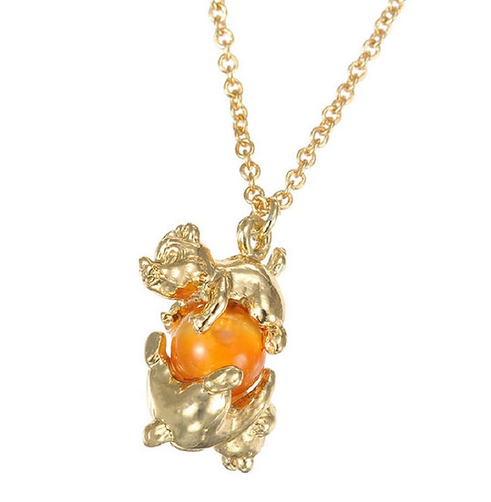 Jewel Collection - Chip and Dale Natural Stone Necklace ( Health )