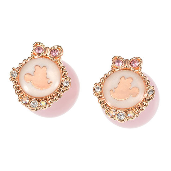 Earring Collection : 2 WAY Minnie Girly pearl earring