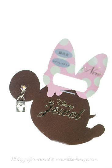 Single Design Earring Collection : Mickey Love Lock Earring