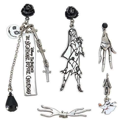 Earring Set Collection : Pierce 5P set Tim Burton Nightmare Before Christma