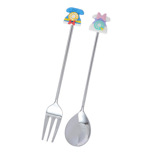 Kitchen Homeware-Donald & Daisy Ring Ring Ring Series Home Decor Spoon & Fork
