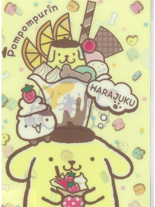 File Sanrio Series: Pom Pom Pudding Harajuku Store exclusive Single Pocket File