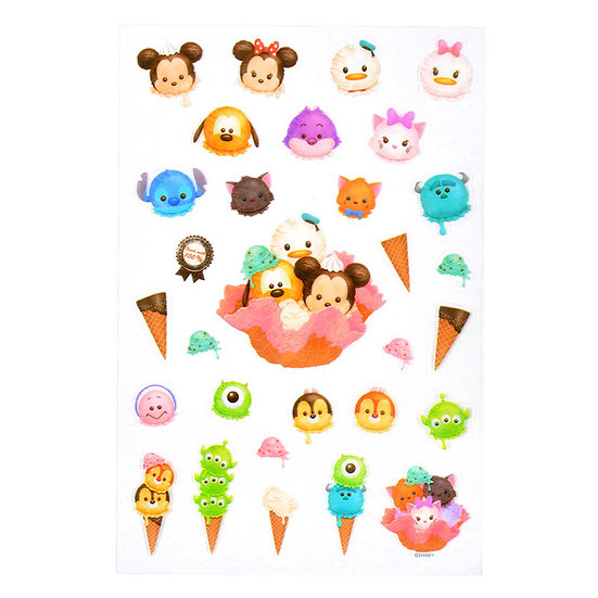 Disney Characters Sticker Collection - Tsum Tsum Ice-cream summer