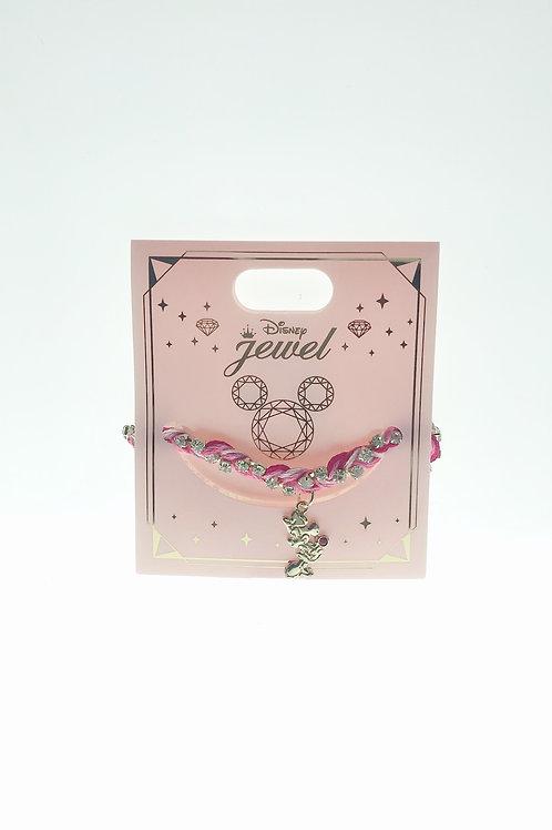 Princess Bracelet Series : Minnie embroidery Shiny stone Bracelet