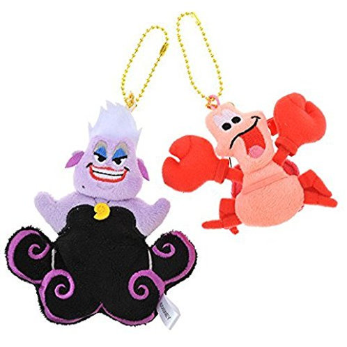 Plushie Keychain Series: Tiny Series - Ursula &  Sebastian Plushie Keychain