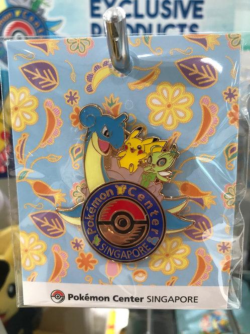 Pokemon [PO]- Pokémon Center Singapore Logo Badge Pin