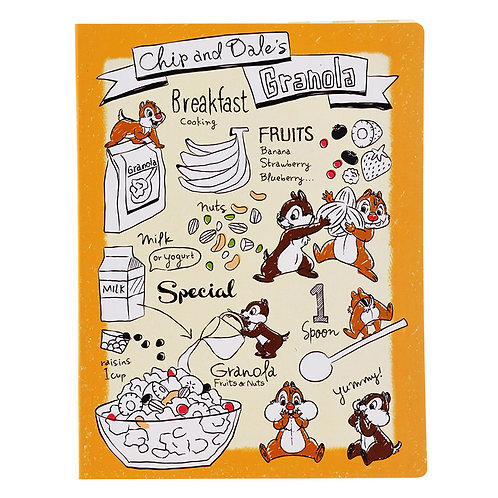 Memo Collection - Disney Chip and Dale Happy breakfast A5 Sticky Memo Pad Set