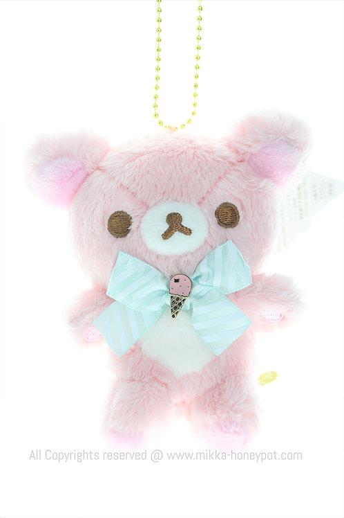 Plushie Keychain Collection - Rilakkuma Pink Ice-cream Plushie Keychain