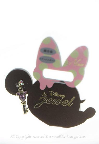 Single Design Earring Collection : Mickey Love Key Earring