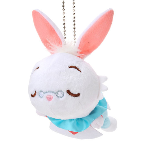 Plushie Keychain Series : Alice White Rabbit sleeping Plushie Keychain