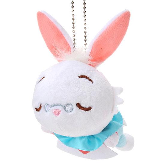 Plushie Keychain Series : Alice White Rabbit sleeping Plushie Keychain