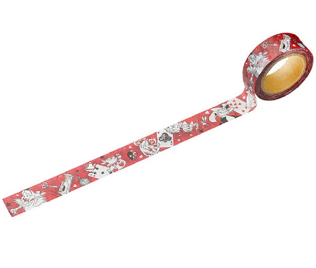 Alice in wonderland red Washi Tape