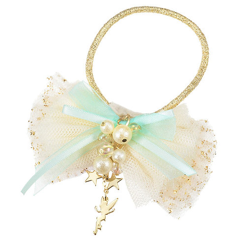Elastics Decoration Series : Tinker Bell Shiny Star Ribbon Hair Bobbles