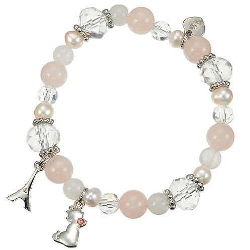 Natural Stone Series : Marie Power Pink Stone ( Power and Friendship ) Bracelet