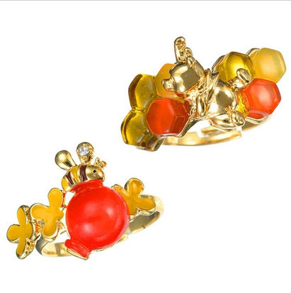 Winnie the Pooh POOH HUNNY DAY 2 pc Rings