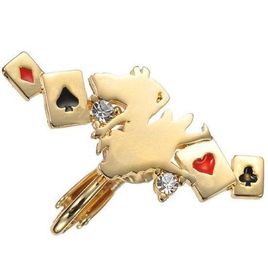 Single Design Earring Collection : Alice In Wonderland Alice & Poker Dream