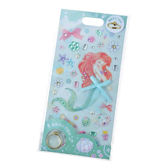 Princess Ring Sticker series -Little Mermaid Shiny Sticker decoration Ring