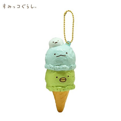 Plushie Keychain Series - Sumikko Gurashi Triple Scoop Ice Cream Squishy Mascot