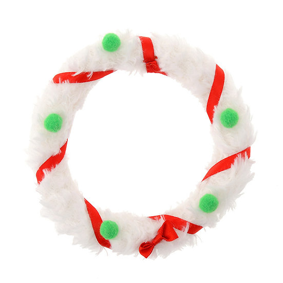 Plushie Series: Disney ufufy Accessories Series- Christmas Wreath White