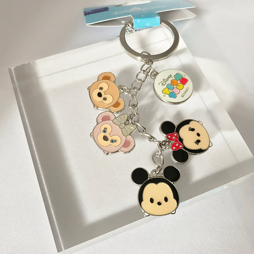Ring Keychain collection - HK Disneyland Duffy & Shellie May W Mickey & Minnie