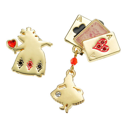 Clip Earring Collection :  Alice and Queen Red & Black Clip Earring