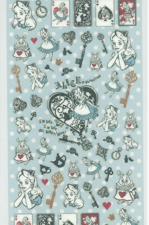 Long Pack Sticker Collection - Alice in Wonderland Shiny Sticker