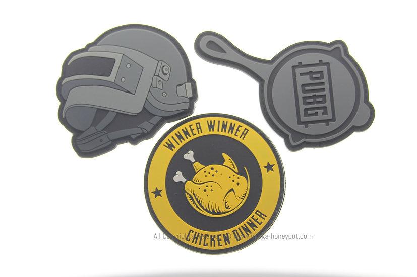 Game Merchandise - PUBG Battlegrounds Velcro Patches Set