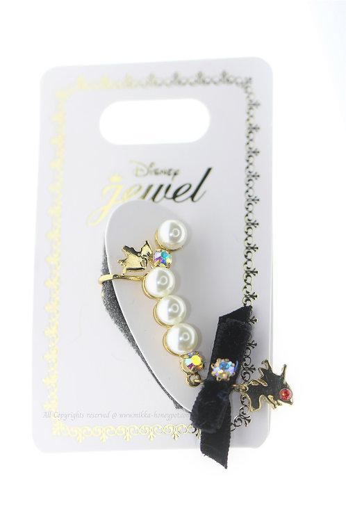 Clip Earring Collection :  Alice in Wonderland Pearl Ribbon Ear Dress