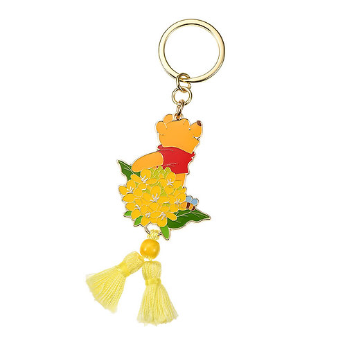 Ring Keychain collection -Flower calendar March Winnie The Pooh key chain
