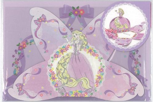 Tokyo Disney Exclusive :Tangled Rapunzel Dress 3D folding Origami Candy Memo Pad