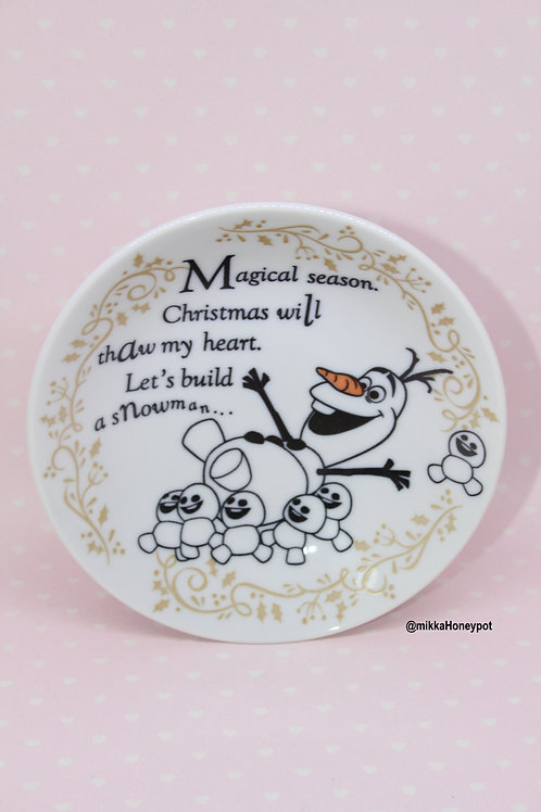 Cake Dish Series : Christmas Frozen Olaf dessert Plate