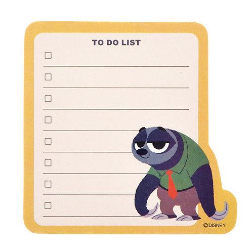 Sticky Pad Series: Zootopia to do list memo
