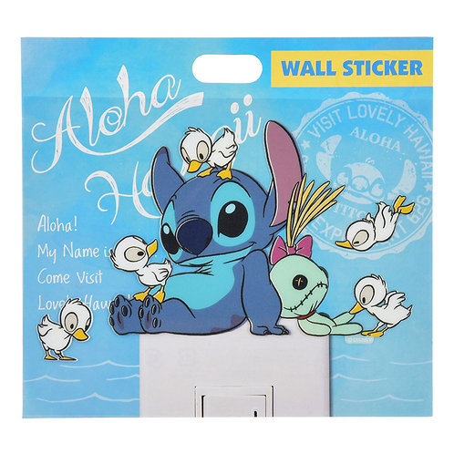 Wall sticker collection - Stitch and Duckling summer wall sticker