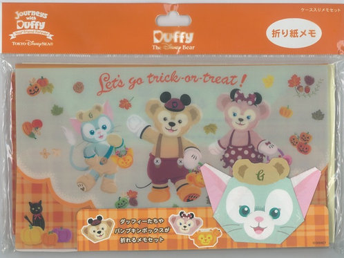 Tokyo Disney Exclusive : Duffy & Shellie May Origami Halloween Memo Pouch Set