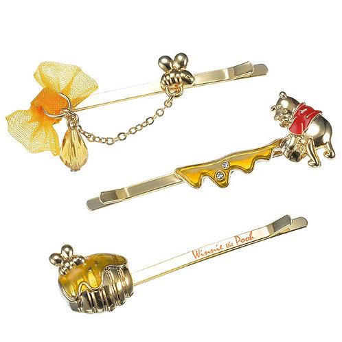 Hair Pin Collection -   Winnie the Pooh Hunny Pot Hair Pin Set