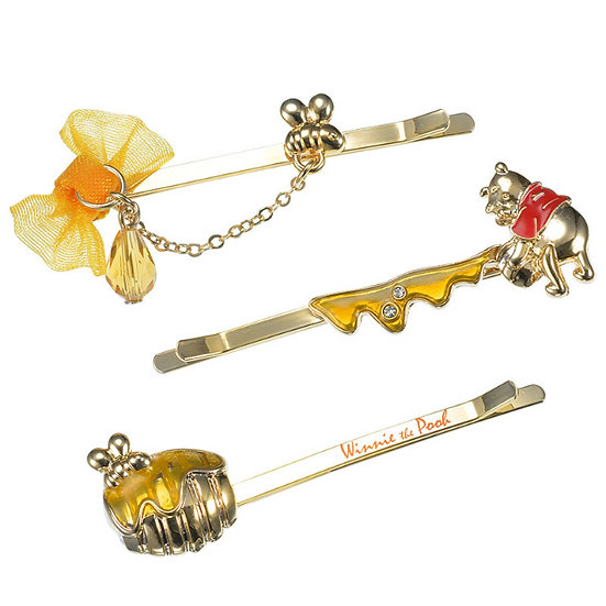 Hair Pin Collection -   Winnie the Pooh Hunny Pot Hair Pin Set