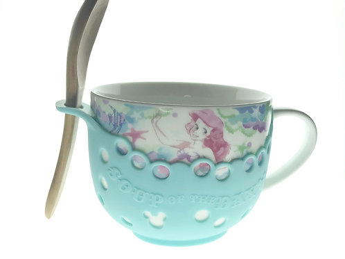Mug Collection Homeware - Little Mermaid Ariel Soup Mug with Spoon