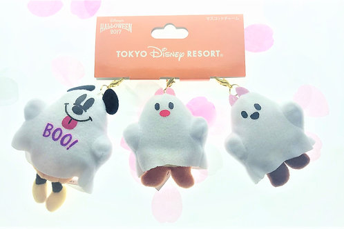 Plushie Keychain Collection-Halloween 2017 Tokyo Disney Chip & Dale Mickey Ghost
