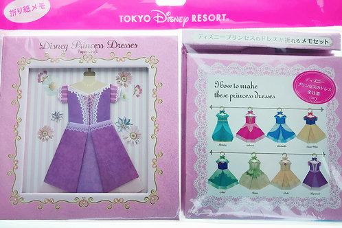 Tokyo Disney Exclusive : Tokyo Disneyland Princess Dress Folding Card Memo
