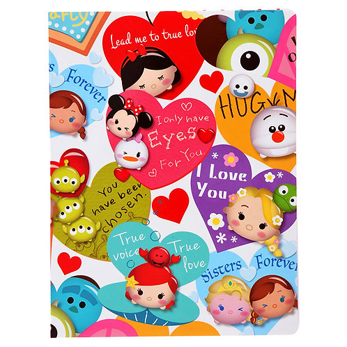 Memo Collection -Tsum Tsum Fever Valentine A5 Sticky Memo Pad Set