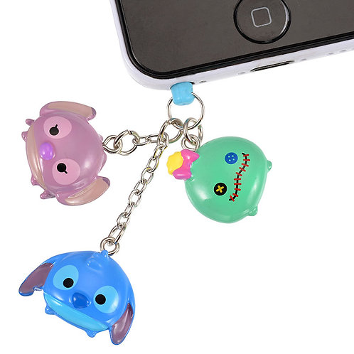 DUST PLUG - Stitch , Angel and Scrump Tsum Tsum Candy Dust Plug