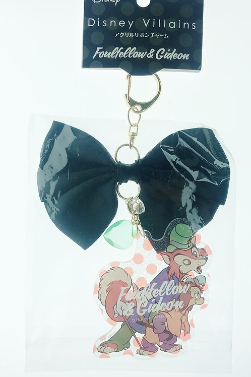Snap Hook Keychain Collection- Villains Ribbon Pinocchio - Foulfellow and Gideon